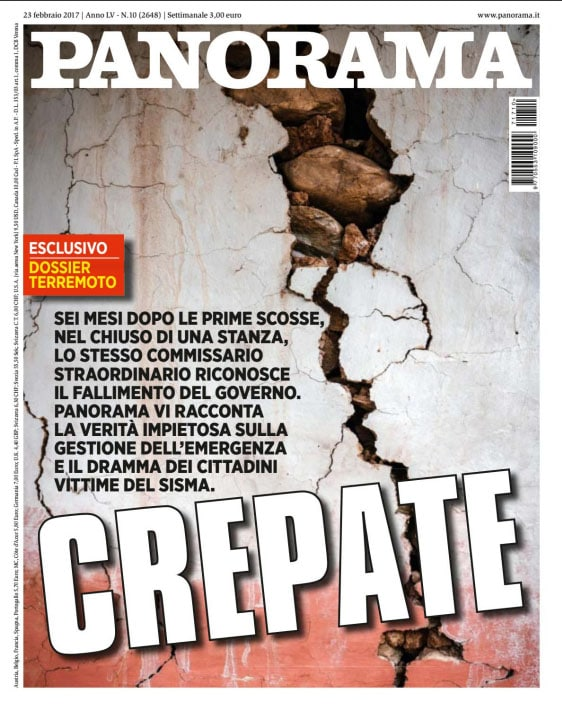 Cover Image, post-earthquake photograph from Nepal. Panorama, Italy, 23 Feb 2017.(stock sale via laif)