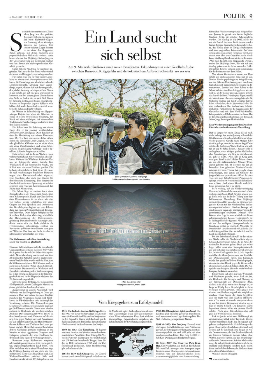 South Korea's Political Landscape, 4 May 2017. Die Zeit