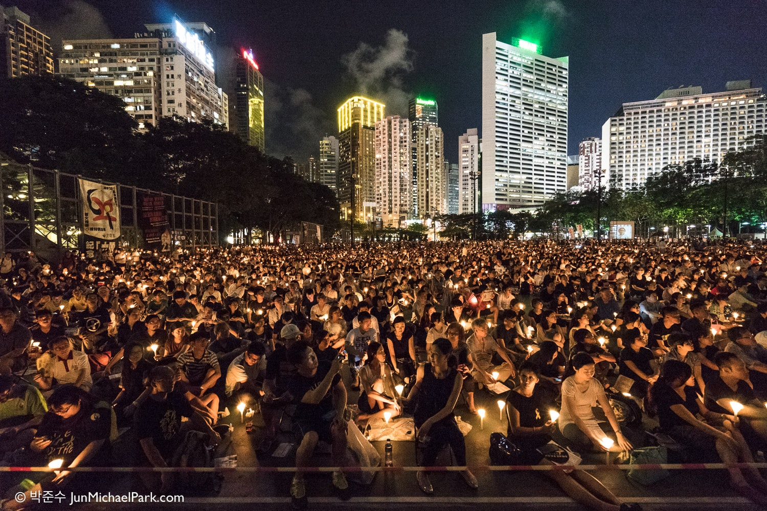 The 26th Tiananmen Anniversary, Victoria Park, Hong Kong, June 4th, 2015