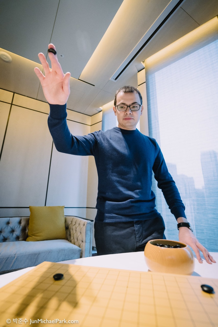 Demis Hassabis, cofounder and CEO of Google DeepMind. For Les Echos, March 2016.